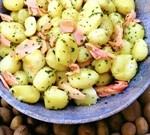 как приготовить молодой картофель с форелью
