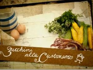 Продукты для пасты с кабачками а-ля карбонара