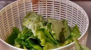 подсушить листья салата