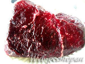 Мясо кита для рецепта в стиле Дж. Оливера
