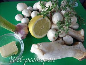 Продукты для грибной брускетты