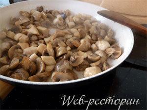 Как обжарить грибы для брускетты