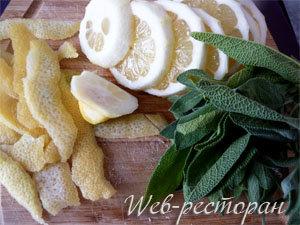 Лимон и шалфей для курицы в молоке