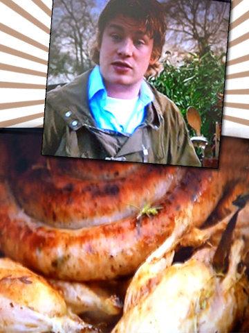 Джейми готовит птицу