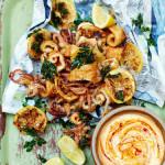 Рецепты к Новогоднему столу от Джейми! Закуска из кальмара с острым майонезом