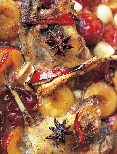 Рецепты к Новогоднему столу от Джейми! Сладкая утка со сливами и бадьяном