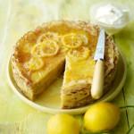 Лимонный блинный торт
