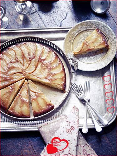 Рецепты ко дню св. Валентина от Джейми! Простой пирог с грушами