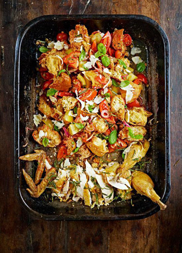 Итальянский салат с курицей и помидорами ПАНЦАНЕЛЛА