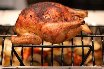 Закончить готовку курицы на гриле