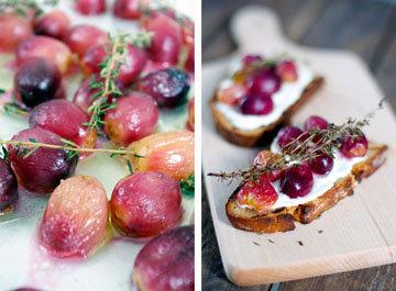 Виноград подавать вместе со свежим хлебом