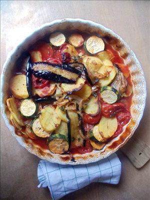 Овощи в духовке по-гречески
