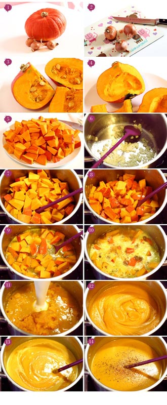 Тыквенный крем суп - способ приготовления