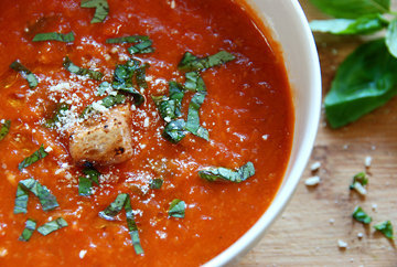 Рецепт томатного супа в хлебе