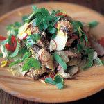 Салат с мясом - говядина и редис