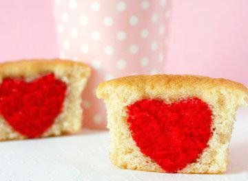 Капкейки рецепт с сердцем