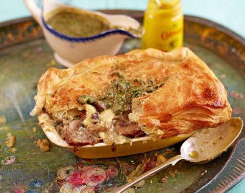 Сырный пирог с грибами