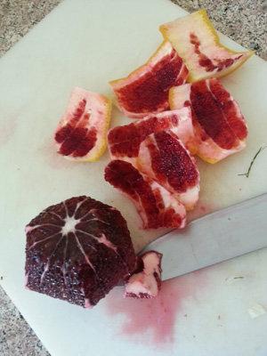 Грейпфрут филировать