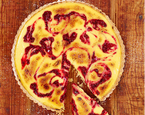 Пирог с лимоном и ягодами - мраморный