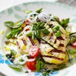 Запеченные овощи с сыром халуми