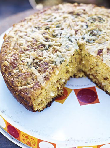 Хлеб без дрожжей - кукурузный с чили
