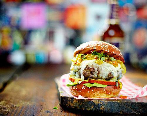 Гамбургер рецепт с яблоком и сыром