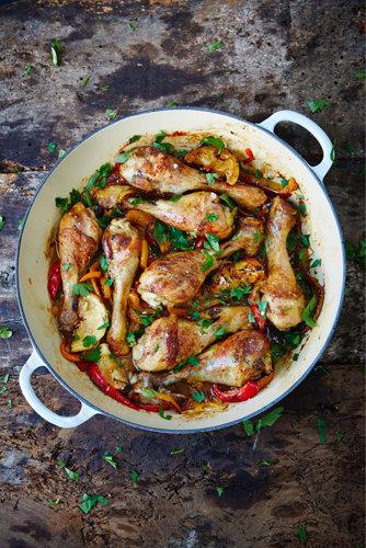 Куриные ножки рецепт с перцами (подходит для аллергиков)