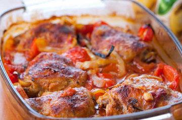 Куриные ножки рецепт с перцами 1