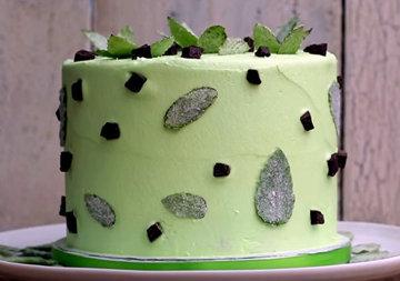 Слоеный торт - мятно-шоколадный рецепт