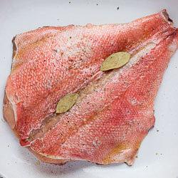 Филе рыбы в тесте - морской окунь