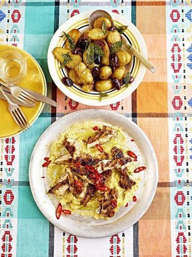 Курица на сковородке Aji de Gallina