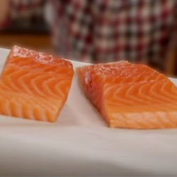 Филе лосося на 2 x 150 г - без косточек, с кожей