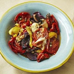 Овощной салат - рецепт из запеченных овощей