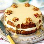 Кофейный торт с орехами