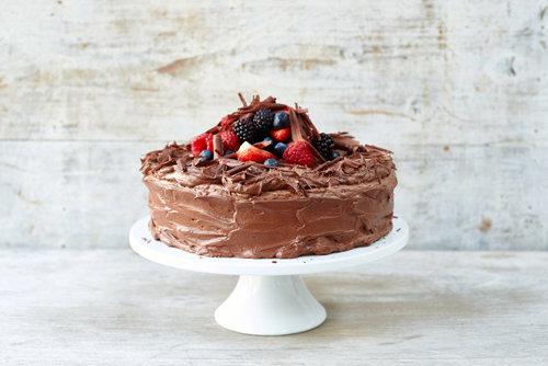Простой шоколадный торт с кремом