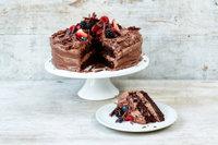 Простой шоколадный торт с кремом12