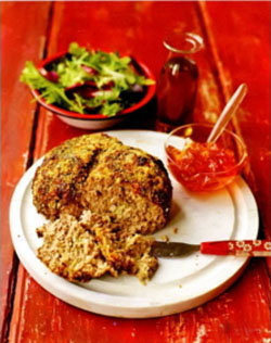 Подавать мясной хлеб