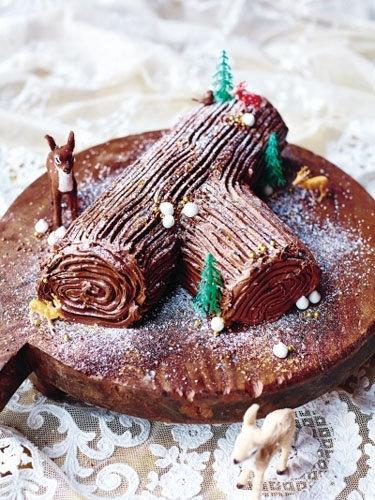 Шоколадный пирог Полено