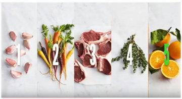 Ингредиенты баранина с морковью