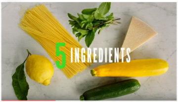 Ингредиенты паста с кабачками