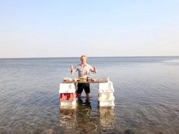 Рецепт жареной рыбы и креветок