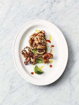 Хрустящий кальмар с авокадо