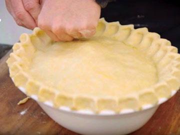 Пирог с мясом и сыром 2