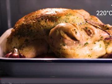 6. запекать курицу 1 час при 220°С
