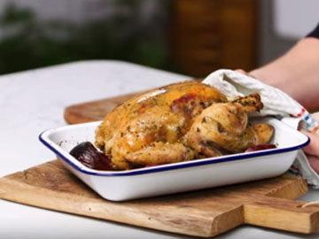 7. Курицу выложить на доску