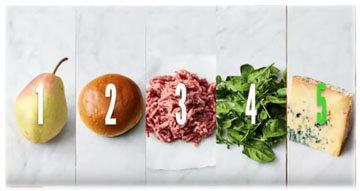 бургер - всего лишь 5 ингредиентов!