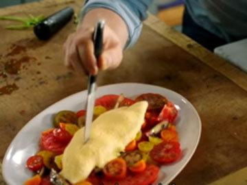 Омлет с салатом 8
