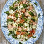Салат с лососем