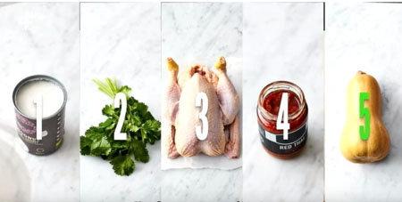 Тайский красный куриный суп. Ингредиенты