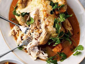 Тайский красный куриный суп